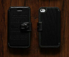 Raydes iphone 4/4S Case - Genuine Leather with Credit Card Holder - Black