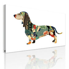 HD Canvas Prints Decor Wall Art Painting Picture-Food Dog Basset Hound Unframed