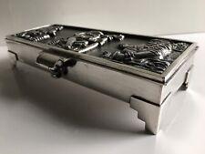 Peruvian Sterling Silver Peru Box Pre Columbian High Relief Imagery 405 Grams