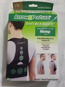 Hempvana Arrow Posture Fully Adjustable Posture Support for Men  and  Women L/XL