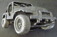 IBEX PEWTER JEEP BELT BUCKLE..OFF ROAD..4x4