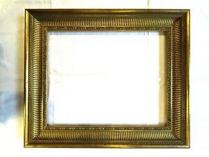 Bilderrahmen alt Holz goldfarben Typ Klassizismus um 1960 Falz: 32x24 Nr. A2