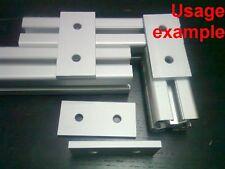 Aluminum T-slot 40x40 profile 2-hole join flat connect 80x38x6mm plate, 4-pieces