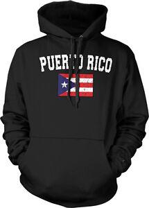 Distressed Puerto Rico Soccer Flag - Puerto Rican PR Pride  Hoodie Pullover