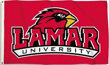 Lamar Cardinals 3' x 5' Flag (Logo Only on Red) NCAA Licensed