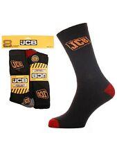 4 Mens JCB Cotton Rich Anti-Shock Safety Work Boot Socks UK 6-11
