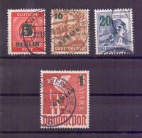 Berlin Briefmarken Aufdruck 1949 - MiNr. 64/67 gestempelt - Michel 40,00 € (481)