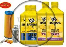 Tagliando Moto Guzzi V35 Bardahl XTM 10W40 filtro olio aria candele T&D/85W140