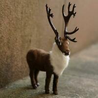 1x Lovely Simulation Plush Elk Toys Soft Sika Deer Cute New Year Christmas US