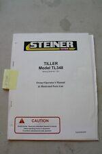 Steiner Tl348 Tiller Operators And Parts Manual