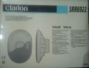 "Altavoces 6"" X 9"" 2 vias 100W Max 4Ohm CLARION SRR 6922"