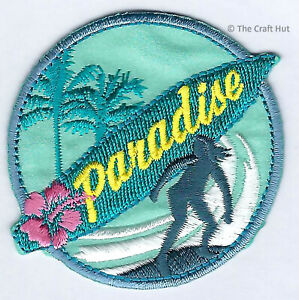Sew or Iron On Craft Motif Patch Craft S&W Surfer Surf Sea Paradise M035 New