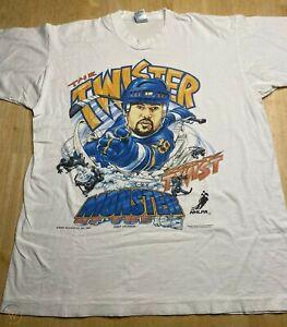 VINTAGE ST LOUIS BLUES T SHIRT TONY TWIST TWISTER 1990S Reprint TK5139