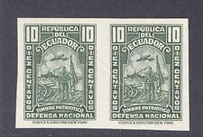 Ecuador 1937, 10c postal tax trial color, American Banknote Co. archives  #RA38