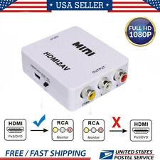 Portable Composite 1080P Hdmi To Rca Audio Video Cvbs Adapter Converter Hd Part