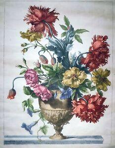 Radierung, Blumenstilleben, Jean Baptiste Monnoyer, um 1690, R.D. 19, Vase