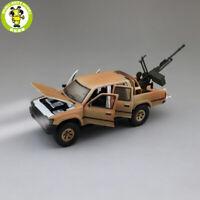 1/32 Jackiekim Toyota Hilux Pick up Truck Anti-tank Gun Diecast Car Model Toys