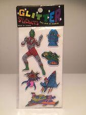 Vintage 80's Puffy Glitter Stickers - ULTRAMAN Grendizer Mazinger Z Goldorak 01