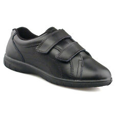 72773b2b74d2 Clearance Boulevard Napoli Ladies Double Velcro Wide Leather Casual Shoes  Black UK 6 -
