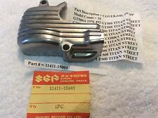 SUZUKI T500 GT500 N.O.S COVER OIL PUMP NEW WITH PARTS TAG PT NO 11411-15001