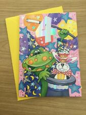 Happy 4th 4 Today Birthday Greeting Card With Frog Magician Hat Design (58)