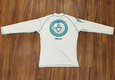 long sleeve rash guard SPF 50+ Polyester white dolphin and you art RG1LSWXXL