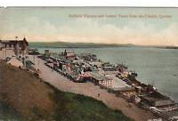 Postcard Dufferin Terrace Town Citadel Quebec Canada