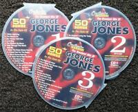 GEORGE JONES 3 CDG DISCS CHARTBUSTER CLASSIC COUNTRY KARAOKE 50 SONGS CD+G 5074