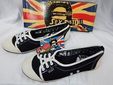 Nos DRAVEN SEX PiSTOL Punk 2 Tone Black Vegan Mules Sneakers Shoes Beach Flats 7