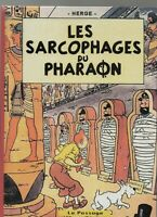 PASTICHE Tintin - Les sarcophages du Pharaon. Album cartonné 26 pages N & Blanc