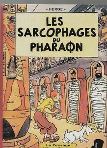 PASTICHE Tintin - Les sarcophages du Pharaon. Album cartonné 26 pages N & Blanc