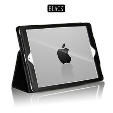 Funda protectora rebatible de cuero Negro Para APPLE IPAD 5TH 6TH GENERATION PRO 9.7 AIR en (approx. 24.64 cm)