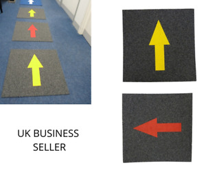 Hard Wearing Commercial Carpet Tiles With 1 Way System Arrow - Social Distancing