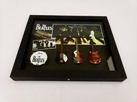 The BEATLES Abbey Road Commemorative Guitar Shadow Box. John Lennon. Mini Art