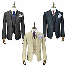 Mens Cavani Tweed Blazer Waistcoat Trousers Sold Separately 3 Piece Suit Check