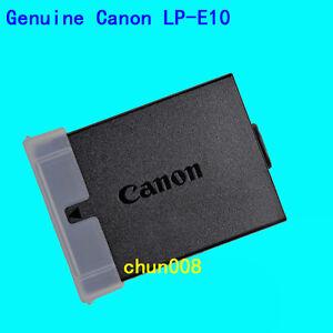 Genuine Canon LP-E10 Battery for EOS 1300D KissX50 X70 X80 X90 Rebel T3 T5 T6 T7