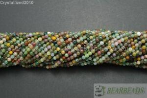 """Natural Indian Agate Gemstone Round Loose Beads 2mm 4mm 6mm 8mm 10mm 12mm 15.5"""""""
