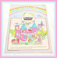 ❤️My Little Pony G1 Merchandise VTG 1985 Magazine Comic #1 A Special Present❤️