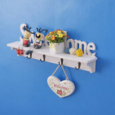 Home Wall Mount Key 4Hook Chain Storage Key Organizer Decor Rack Hanger Holder