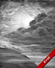 GENESIS CREATION OF LIGHT GUSTAV DORE ENGRAVING ILLUSTRATION ART PRINT ON CANVAS