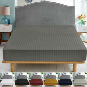 25 CM Easy Care Soft Deep Fitted Bottom Bed Sheet Single Double Super King Sizes