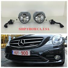 MBZ MERCEDES BENZ 06-10 R350 R63 AMG CLEAR FOG LIGHTS LAMPS W/ BULBS WIRE PAIR
