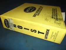HOIST LIFTTRUCK FKS20 FORKLIFT OPERATION SERVICE & MAINTENANCE MANUAL BOOK