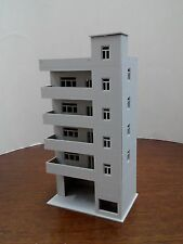 HO scale building ( Apartment Building ) 1:87 for HO gauge model train layout C