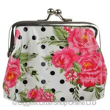 NEW LADIES Girls Teen Jessie Steele Lined Clasp COIN PURSE Oil Cloth Cute Handy