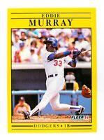 Eddie Murray #214 (1991 Fleer) Baseball Card, Los Angeles Dodgers, HOF