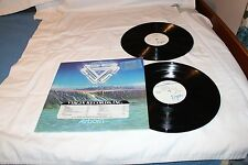 Mike Oldfield Stickered Promo LP with Bonus LIVE LP-AIRBORN STEREO