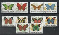 Burundi, 1984 Butterflies 1630-39 IN Pair, (27815)