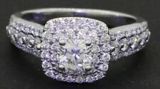 Helzberg Diamonds 14K WG 1.34CT halo engagement ring w/ .43CT Ideal Square ctr.