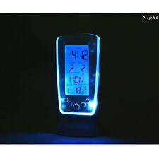 Digital Backlight LED Table Alarm Clock Snooze Thermometer Calendar Practical